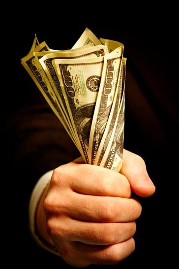 fistful of dollars hundred-dollar bills