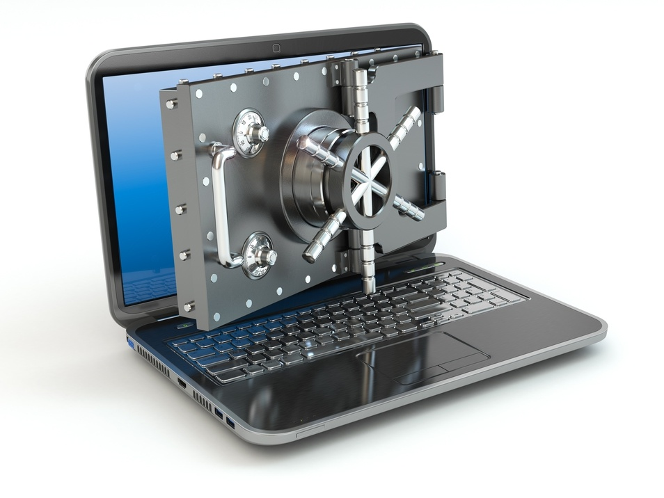Computer laptop security bank vault lock
